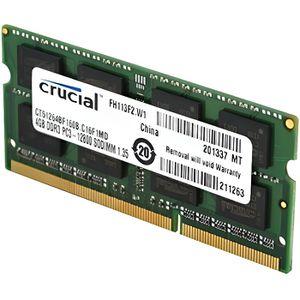 MÉMOIRE RAM Crucial CT102464BF160B Mémoire RAM DDR3 1600 8 Go