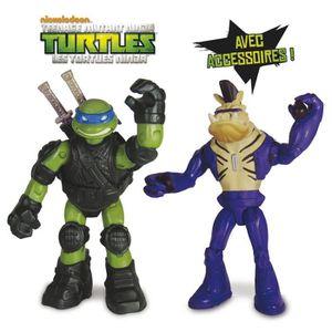 FIGURINE - PERSONNAGE Tortues Ninja - Assortiment Blister de 2 Figurines