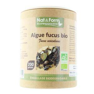 DÉFENSE IMMUNITAIRE  nat&form algue fucus bio 200 gelules