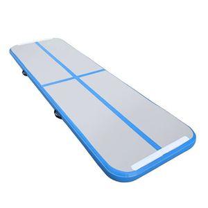 TAPIS DE SOL FITNESS 0.9x3m Tapis de gymnastique gonflable bleu
