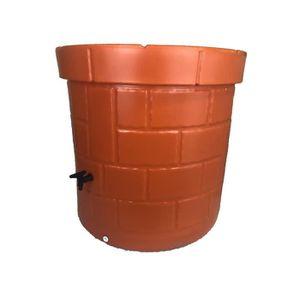 COLLECTEUR EAU - CUVE  Puit recuperateur d'eau PEHD - 340 L - Orange