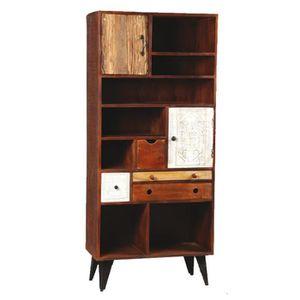 BIBLIOTHÈQUE  Bibliothèque 2 portes, 4 tiroirs en bois de Paliss