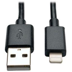 CÂBLE TÉLÉPHONE Tripplite Câble USB pour Iphone 6 - 30 cm - Noir