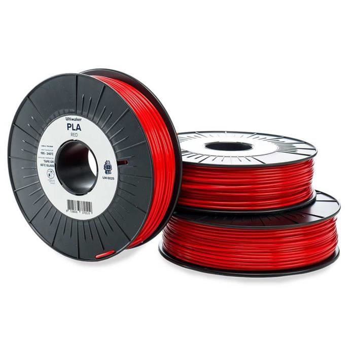 Ultimaker Cartouche de filament Pla 2.85mm Rouge 750 g