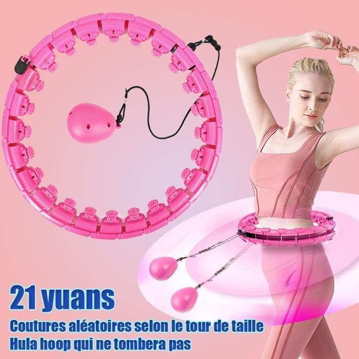 Cerceau Hoola Hoop, Cerceau de Fitness Adulte Démontable, Weighted Hoola Hoop lesté avec des lumières colorées, Largeur réglable