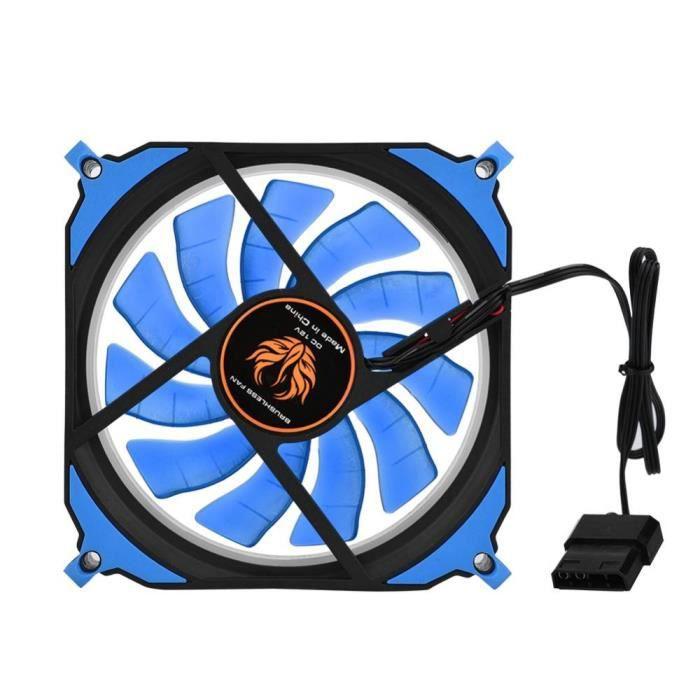 120mm Ventilateur châssis d'ordinateur ultra silencieuse Lumière Led 12V Ventilateur de refroidissement Pc pour Ordinateur de bureau