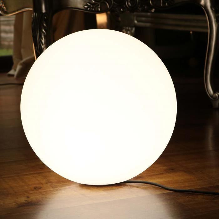 40cm Sphère Lumineuse LED Blanche, Lampe Sol Design Moderne, Lampadaire Salon Chambre (Ampoule E27 Incluse) de PK Green