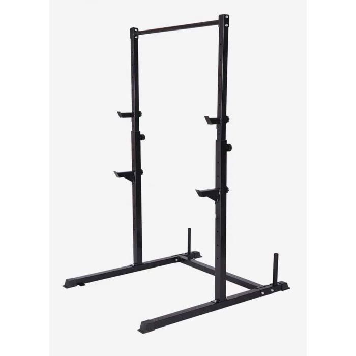 Pullup Fitness Squat Rack/Barre de traction ajustable/barre fixe/Developper couché/Pull up bar/Cage à squat