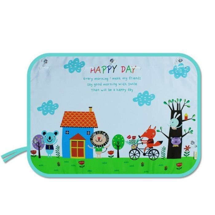 Rideau pare-soleil pour enfants - Rideau de dessin animé pour voiture, protection contre le soleil, ri - Modèle: A14 - ANZYBUA03675