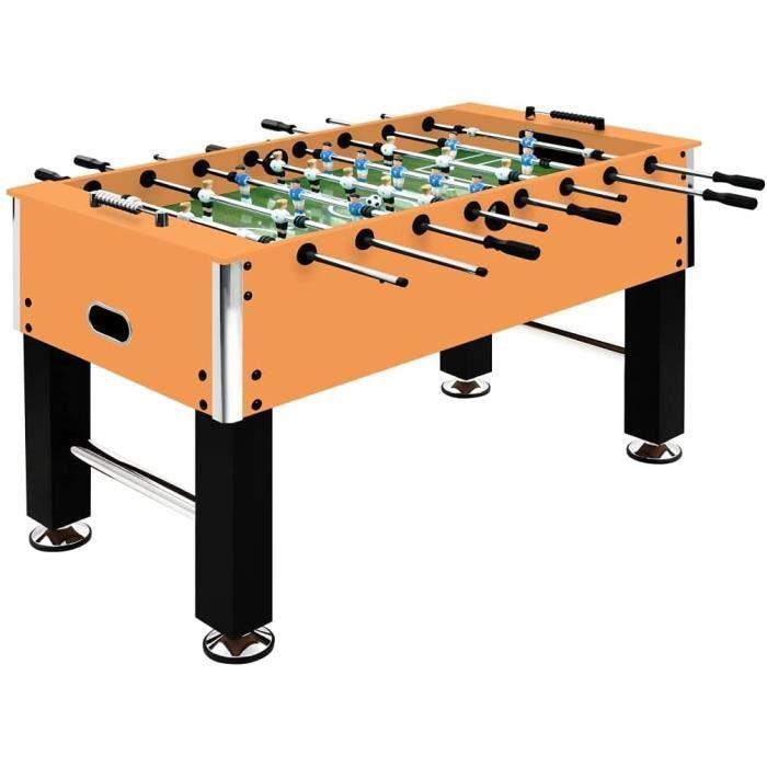 vidaXL Baby-Foot Table de Football Table de Jeu Jouet Enfants Ballon de Football Tableau d'Affichage Acier 60 kg 140x74,5x87,5320