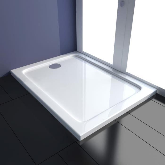 Haute qualité-Receveur De Douche Moderne - Bac de douche Meuble salle de bain- ABS Blanc 80x100 cm♫8450
