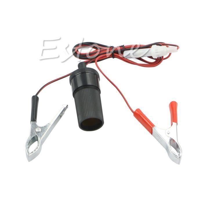 Nouveau DC 12 V voiture Auto Clip on allume cigare prise batterie Clips adaptateur secteur EOT3