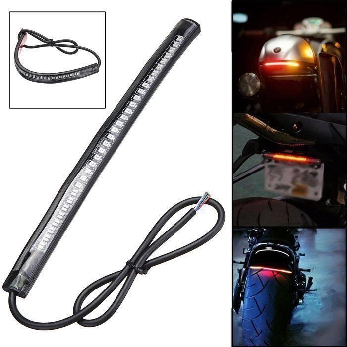 Bande 48 LED Veilleuse - Stop & Clignotant Lampe Frein Arrêt Feux Arrière Signal Arrêtez Intégré Lumière Moto