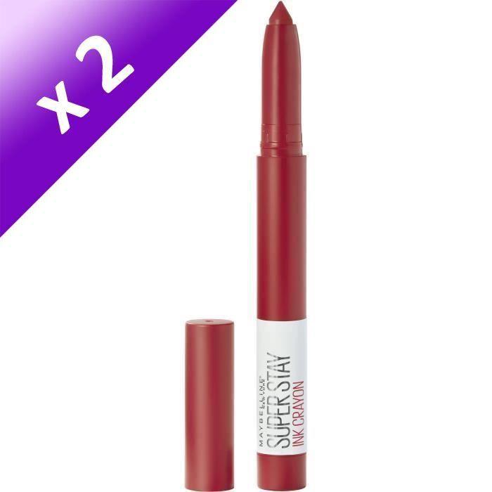Lot De 2 - Maybelline New York Superstay Ink Crayon 45 Hustle In The Heels
