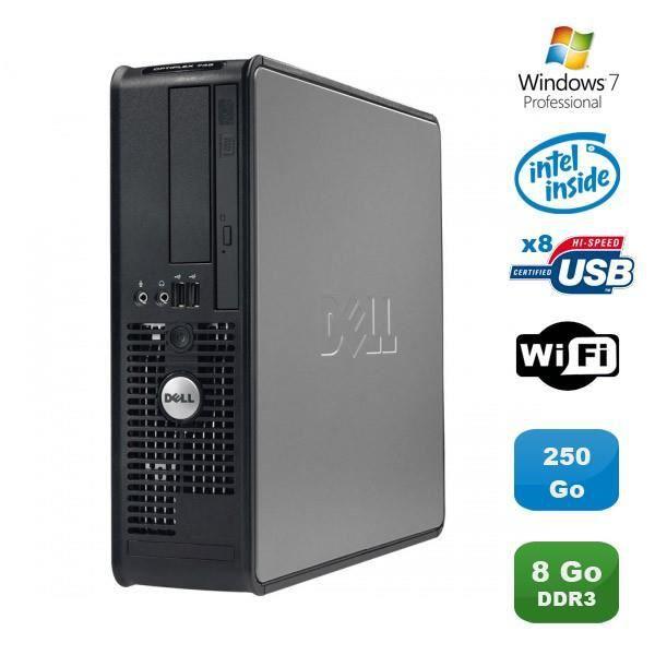 PC DELL Optiplex 380 SFF Pentium D E6300 2.8Ghz 8Go DDR3 250Go WIFI Win 7 Pro