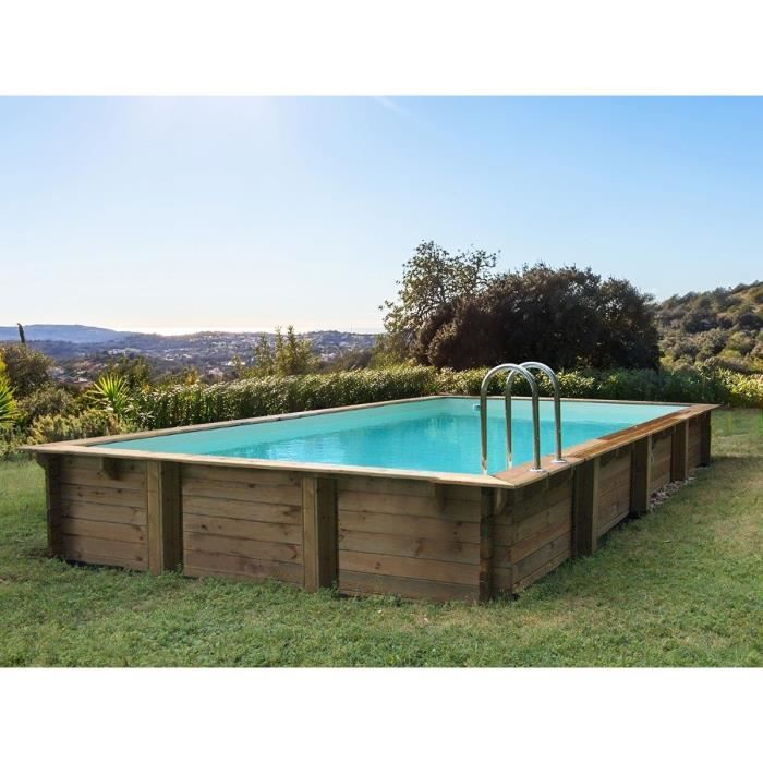 Piscine bois en kit rectangle -Oceano - - 9.20 x 5.20 x 1.44 m