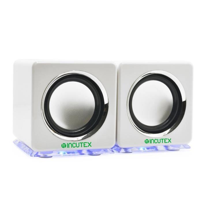Incutex arc-en-haut-parleur, boîtes LED, haut-parleurs de PC portables, haut-parleurs audio, haut-parleur portable, haut-parleurs
