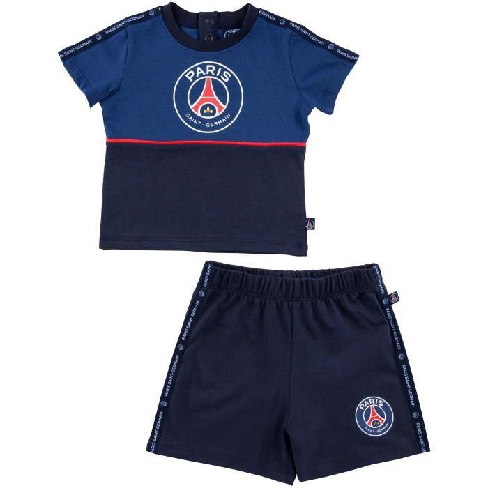 Ensemble t-shirt + short bébé PSG - Collection officielle PARIS SAINT GERMAIN