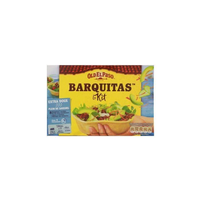 [Lot de 4] Kit pour tacos avec barquitas sans piment Old El Paso - 329g par kit