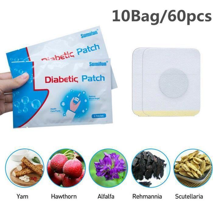 10 PCS Patch Diabétique Naturel, Stabilise l'Équilibre Glycémie Patch, Patch Herbes Naturel Maintien Équilibre de la Glycémie