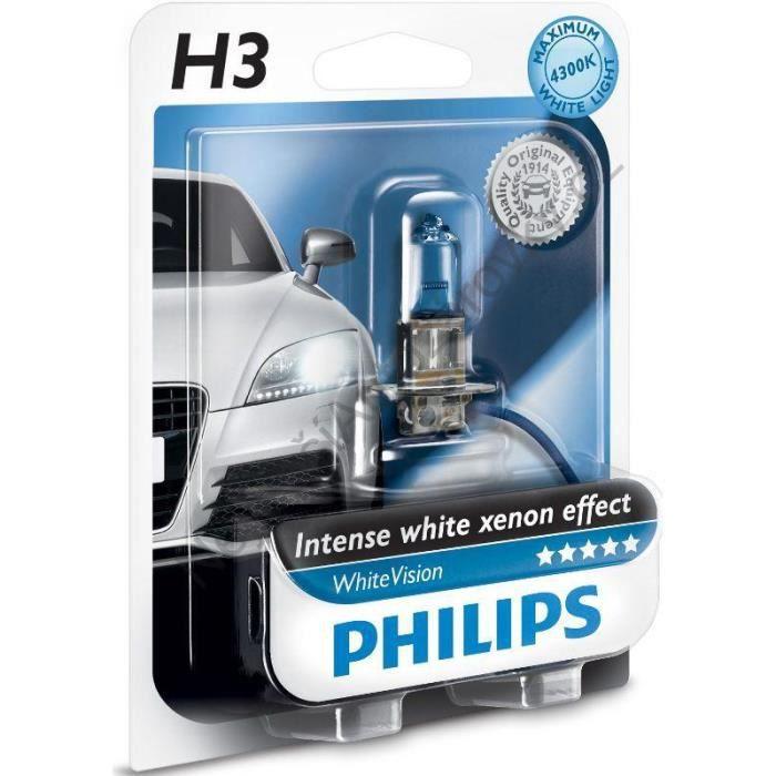 1 ampoule H3 12V 55W 4300K. WhiteVision.12336WHVB1.