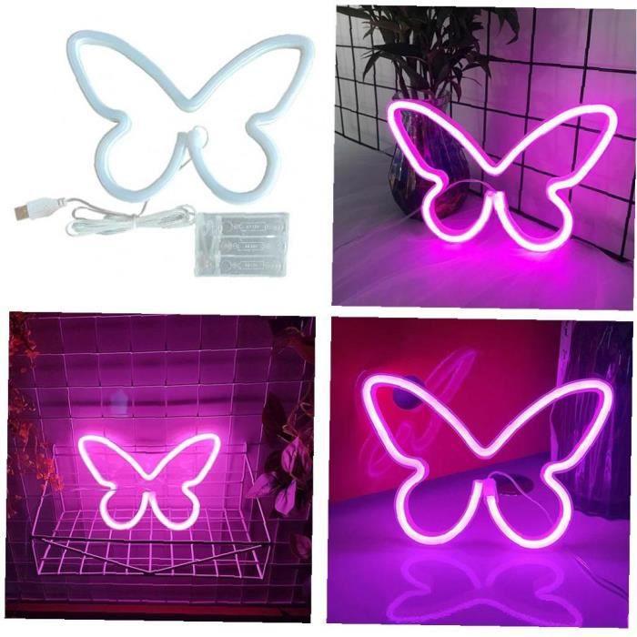 Néon Light Sign Promfly LED Lampe murale suspendue Décoration murale avec lumière rose