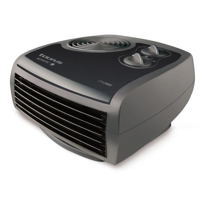 TAURUS Radiateur thermoventilateur CA 2400 - 2400W - Noir et gris