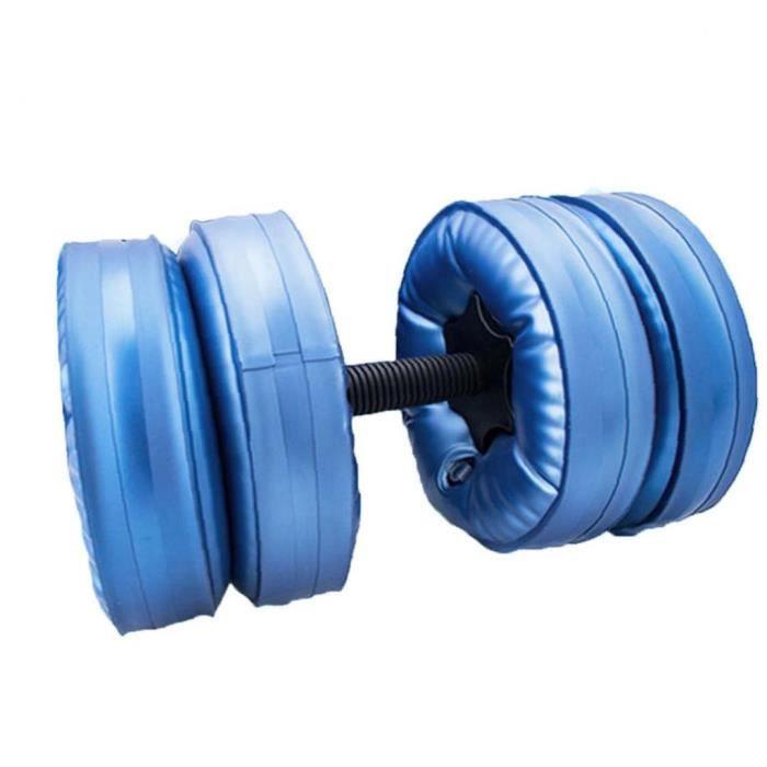 Haltères d'haltères remplis d'eau haltères réglables d'haltères de PPC écologique de l'entraînement professionnel bleu