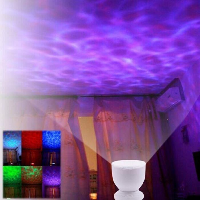 LED Night Light Projector Romantique Ocean multicolore Mer Vagues Daren Projecteur Lampe Mini Enceinte