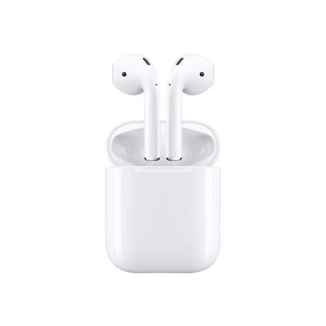 apple airpods ecouteurs intra auriculaire bluetooth blanc. Black Bedroom Furniture Sets. Home Design Ideas