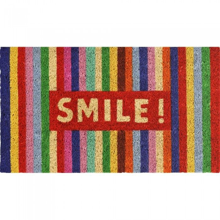 Paillasson design smile couleur multicolore mat achat for Paillasson interieur design