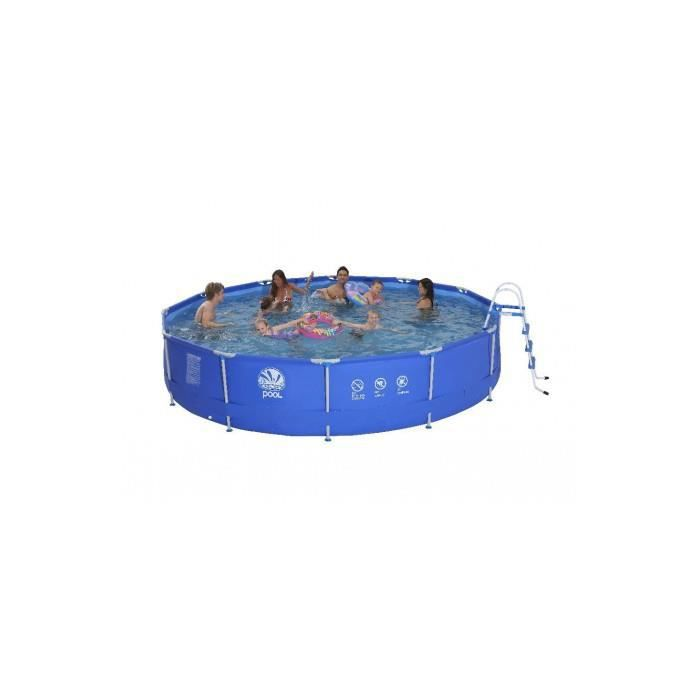 piscine ronde avec armature en acier diam tre 450 cm achat vente piscine piscine ronde avec. Black Bedroom Furniture Sets. Home Design Ideas