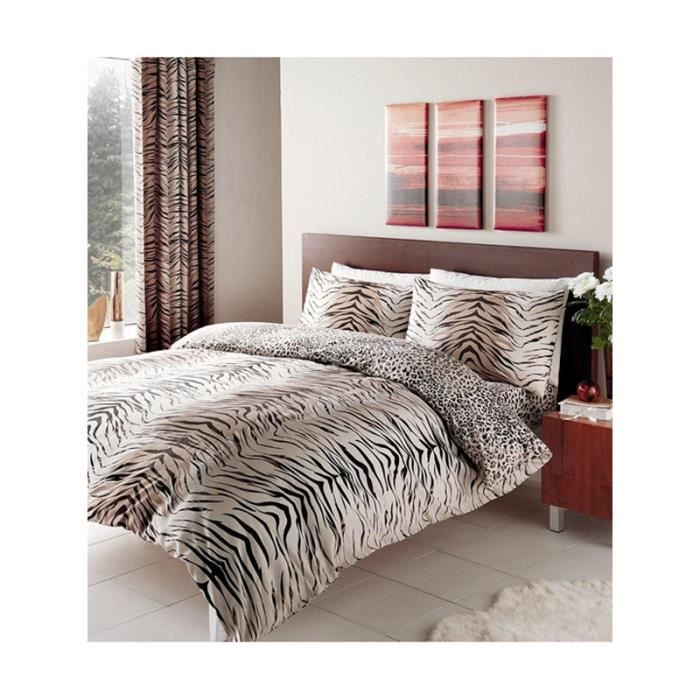 parure de couette tigre et l opard 1 personne lit 90 cm. Black Bedroom Furniture Sets. Home Design Ideas