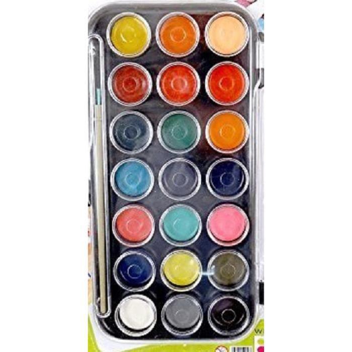 Palette peinture a l'eau enfant x 21 couleurs - Achat ...