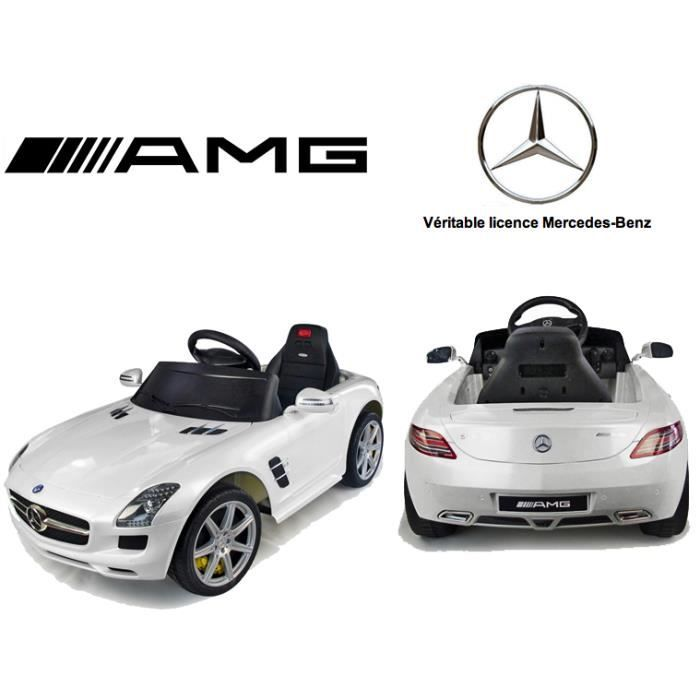 voiture lectrique mercedes benz sls amg blanc achat vente voiture enfant cdiscount. Black Bedroom Furniture Sets. Home Design Ideas