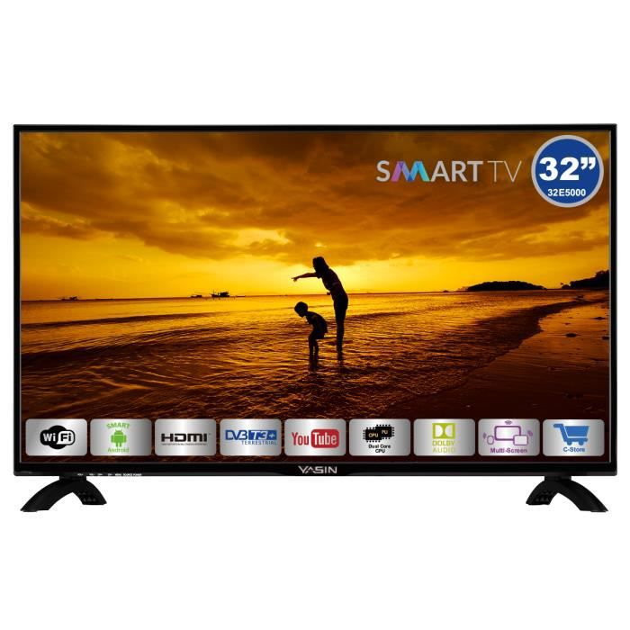 Téléviseur LED Yasin 32E5000 31,5 inch HD-ready Smart TV