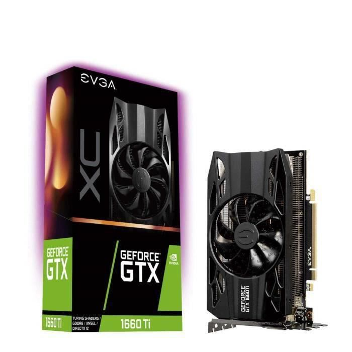 CARTE GRAPHIQUE INTERNE EVGA GeForce GTX 1660 Ti XC Gaming, 6GB GDDR6, HDB