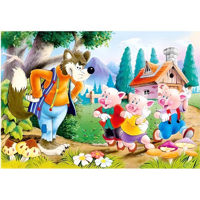 PUZZLE Puzzle 60 pièces : Les trois petits cochons