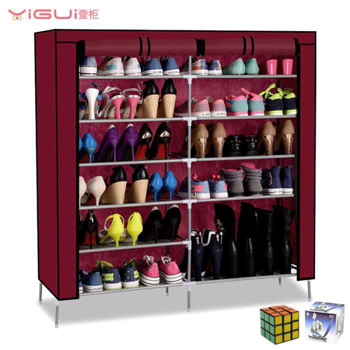 mce armoire de rangement etag re range chaussures 33 paires eco meuble chaussure un rubik 39 s. Black Bedroom Furniture Sets. Home Design Ideas
