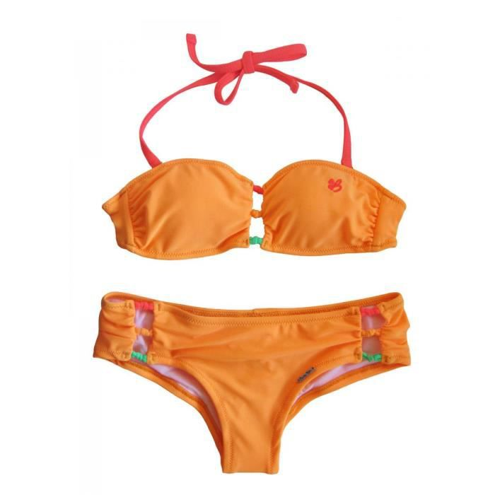 maillot de bain 2 pi ces orange orange achat vente maillot de bain cdiscount. Black Bedroom Furniture Sets. Home Design Ideas