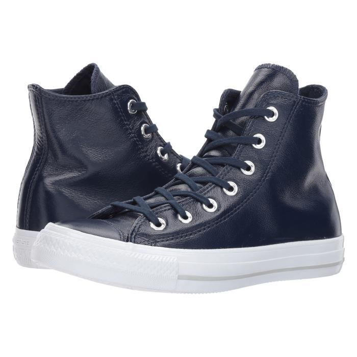 Converse Chuck Taylor Hi Sneakers en Bourgogne 100% cuir N46TW Taille-40 Axe7dXdsBU