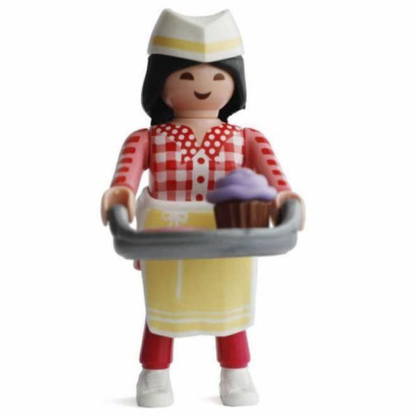 FIGURINE - PERSONNAGE Figurine Playmobil Serie 15 fille: La pâtissière