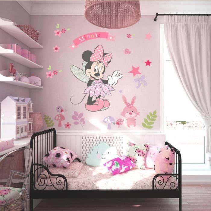 Stickers muraux Enfant Minnie mignonne Officiel certifié -Fille ...