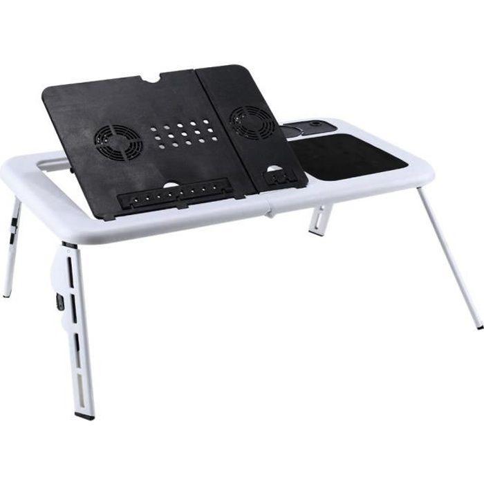 Plateau de lit pour ordinateur portable multi-t/âches /Étude de devoirs lecture Manger Plateau pour tablette pour smartphone Table pliante pour plateau de t/él/évision Bureau sur les genoux