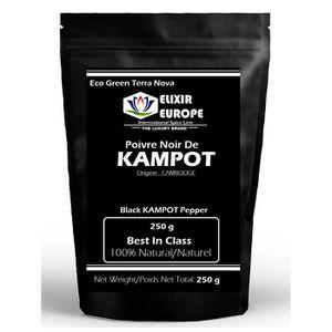 POIVRE Poivre noir de KAMPOT - sachet 250 g