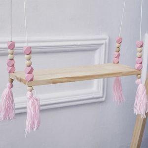 ETAGÈRE MURALE Perles en bois étagère murale de salle de bricolag