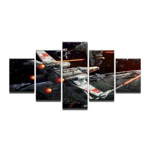 TABLEAU - TOILE Sans cadre 5 Pièces Star Wars X Wing Fighter Mur A