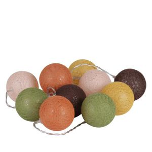 VILLAGE - MANÈGE Guirlande lumineuse 10 boules Vintage - Diam. 6 cm