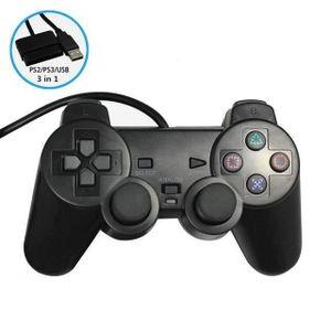 MANETTE JEUX VIDÉO Manette filaire pour PS2, PS3, Android, PC et Mac