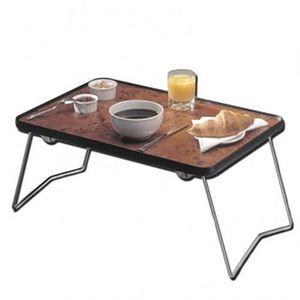 EQUIPEMENT DU LIT Table basse de lit pliable | Couleur bois hêtre |